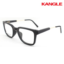 hölzerne optische Rahmen bereit Lager Holz Gläser cool Holz Brillen Brillen Rahmen Metall Tempel kombiniert