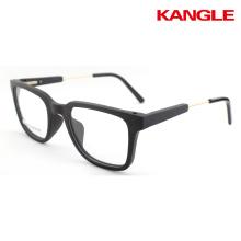marco óptico de madera listo stock gafas de madera fresco gafas de madera marcos de anteojos metal templo combinado