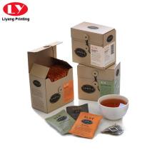 Caixa para embalagem de saquinho de chá com barbante Fechar