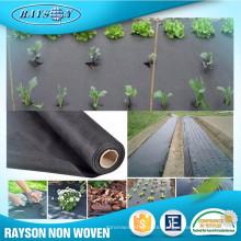 Estera agrícola biodegradable de la tela de los PP de la resistencia ULTRAVIOLETA del 3% o del 4% cubierta de tierra negra