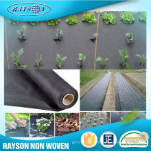 3% or 4% UV Resistance Biodegradable Agricultural PP Fabric Mat Black Ground Cover