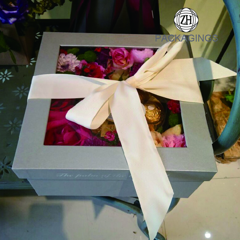 Package+factory+transparent+square+flower+box