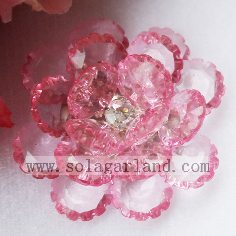 Wholesale 41MM Acrylic Crystal Bead Flower