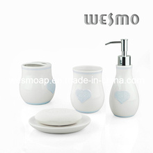 Accesorios de baño de porcelana con decoración de forma de corazón (wbc0606a)