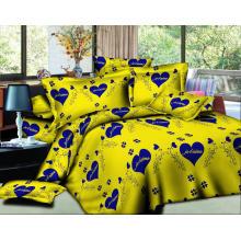 100% полиэстер 3D цветок постельное белье ткань для домашнего текстиля