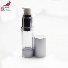 Aluminum Luxury Transparent Lotion Bottle Cosmetic Airless Bottle Airless-036RL