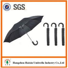 Professional OEM Fabrik liefern gefaltete Auto Regenschirm mit krummen Griff öffnen