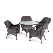 Ronda PE Rattan mesa de comedor silla Set