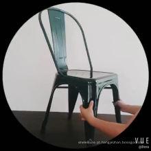 Cadeira de jantar de aço inoxidável escovada do metal do ouro de Rosa do ferro para o partido privado