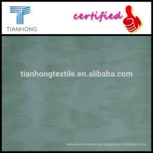 tejido de tejido estampado de algodón popelina spandex con buen estiramiento para pantalón o camisa de color verde y blanco