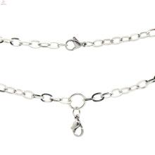 Hommes en acier inoxydable argent collier de caïn, célèbre marque de collier de bijoux en argent