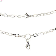 Homens de aço inoxidável prata cain colar, famosa marca de jóias de prata colar