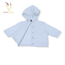 Bébé cardigan avec capuche bébé tricoté cardigan chandail