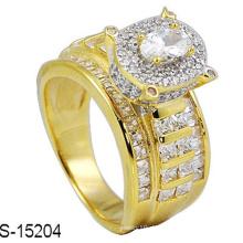 Modeschmuck 925 Sterling Silber Ring mit Diamant
