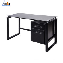 Commercial furniture acrylic computer desk metal frame office table glass computer desk