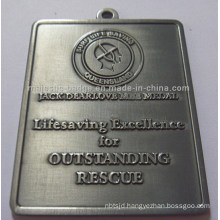 Two-Sided Lifesaving & Antique Silver Plating Medallion