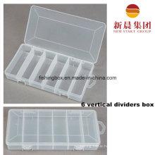 6 Vertical Compartment Plastic Storage Box