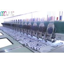 20 cabezales mixtos doble lentejuelas máquina plana bordado