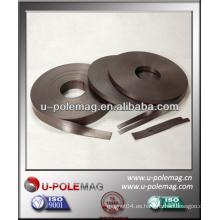 Talla magnética adhesiva de goma isotrópica fuerte de tamaño personalizado