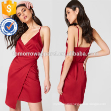 Wrapped Spaghetti Strap V-Neck Midi Summer Dress For Sexy Girl Manufacture Wholesale Fashion Women Apparel (TA0237D)