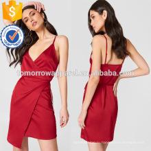 Завернутый спагетти ремень V-образным вырезом Миди летнее платье для девочки сексуальное Производство Оптовая продажа женской одежды (TA0237D)