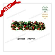 52 * 16 * 9cm Decoración plástica de la boda de la Navidad del arte de la palmatoria de la cereza