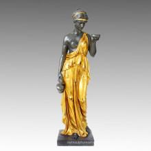 Mythologie Bronze Garten Skulptur Göttin Hebe Deko Messing Statue Tpls-001