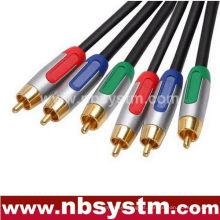 Tipo de montagem Componente RGB Cabo 3xRCA Plug to 3xRCA Plug Vermelho / Azul / verde