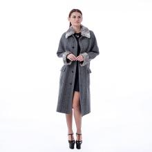 Manteau gris à la mode en cachemire