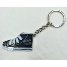 Metal Enamelled Shoe Shaped Key Ring
