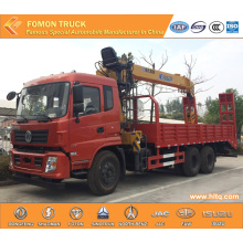 Dongfeng 6X4 platform truck with crane 10 Tons