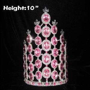 Coronas de concurso de diamantes rosas de 10 pulgadas