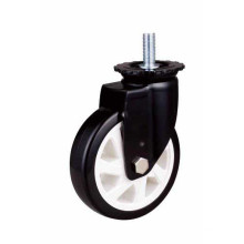 Mh3 Med-Heavy Duty Tige Type de pivotement Double roulement à billes Black PU Wheel Roulette