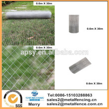 "1""x1"" Fence Garden Welded Wire Mesh Aviary Rabbit Chicken Galvanised 0.6 X 30M"