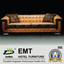 Ensemble de canapé en cuir à l'ameublement moderne moderne (EMT-SF36)