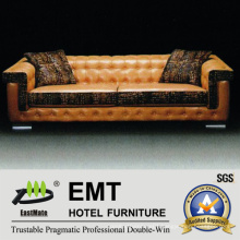 Modern Hotel Sofa Hot Selling Leather Sofa Set (EMT-SF36)