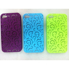 PC meterial mobile phone case for Iphone4S (blue flower style)