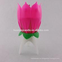 Vela de cumpleaños de flores con música / 2014 productos de venta caliente