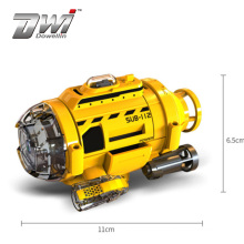 DWI Remote Control Submarine Toys with camera 0.3MP Yellow 3 Channels Mini Underwater photography RC boat Toys for boys Rc barco