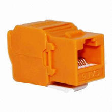 Modular Jack, CAT6 RJ45, Shielded, Tolless, 8pcs, Orange Color