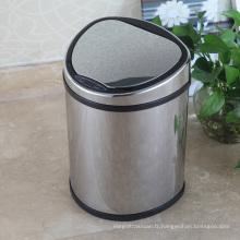 Boîte à déchets de capteur atomique créatif en métal pour maison / bureau / hôtel (D-12LB)