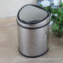 Metal Creative Aotomatic Sensor Waste Bin for Home/Office/Hotel (D-12LB)