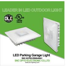 El UL CUL DLC enumeró las luces del pabellón de la gasolinera del LED la venta al por mayor del garaje del estacionamiento de 55w LED