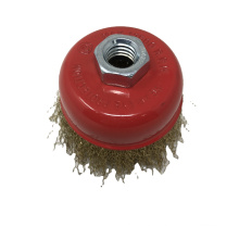 Good Quality Crimped Brass Wire Bowl Brush Crimped Wire Cup Brush For Polishing and Cleaning