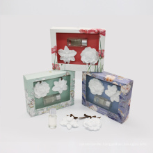 ceramic flower with 10ml essential oil in gift box
