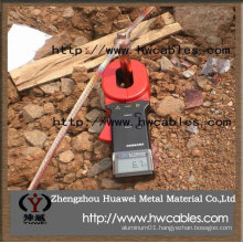 copper down conductor for lightning and earthing protection
