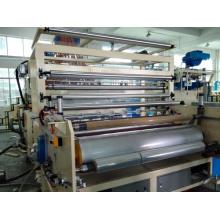 Máquina para esticar e rebobinar filme plástico para máquinas de plástico