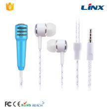 MP3 música microfone fone de ouvido estéreo para cantar