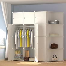 Vestuário de armário de armazenamento de roupas de cor Mulit útil lona