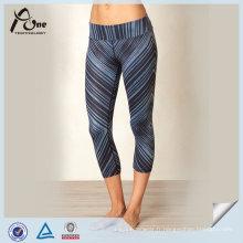 Pantalon de yoga coloré fait sur commande à la mode de vente chaude pour des femmes